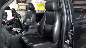 07 14 Chevy Silverado Crew Cab Black Leather Heated Seat Set Front Rear Oem