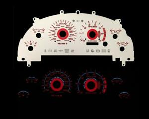 Red Reverse Instrument Cluster Panel Dash Glow Gauge Face For 99 04 Mustang V6