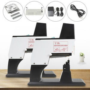 Dual Head Stapler Auto Flat Saddle Binder Stitching Book Binding Machine Deaktop