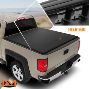 Vinyl Soft Top Tri Fold Tonneau Cover For 83 11 Ford Ranger Fleetside 6ft Bed