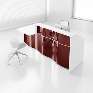 Wave 109 Reception Desk With Counter Top