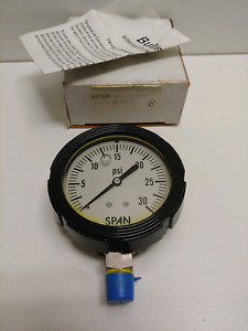 New Old Stock Span 2 5 0 30 Psi Pressure Gauge Lfs212 30 psi f 1511164