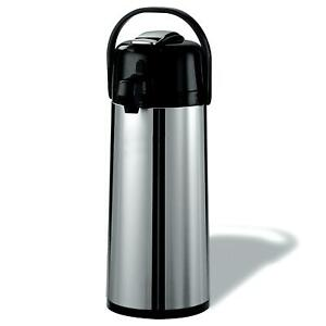 2 2 Liter Airpot Hot Coffee Server Carafe Beverage Dispenser Stainless Steel
