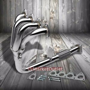 4 1 Stainless Steel Exhaust Header Manifold For 97 01 Honda Prelude Base 2 2l