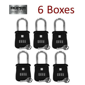 lot Of 6 Key Lock Box For Realtor Real Estate reo Door Hanger