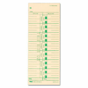 Tops Time Card For Acroprint Ibm Lathem And Simplex Weekly 3 1 2 X 9 500 bo