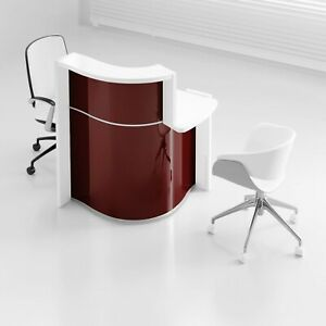 Wave 34 Reception Desk With Counter Top