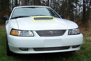 For 1999 2002 Ford Mustang Polished Aluminum Hood Scoop Grille Insert
