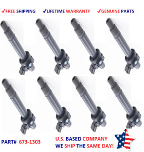 8 Denso Ignition Coils 1998 2009 Toyota 4runner Cruiser Tundra 4 7l 673 1303