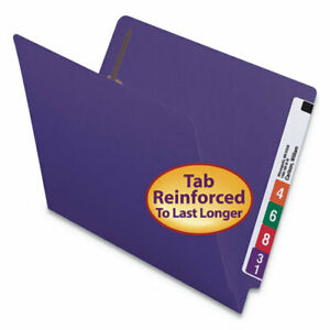 Heavyweight Colored End Tab Folders With Two Fasteners Straight Tab Letter Siz