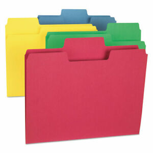 Supertab Colored File Folders 1 3 cut Tabs Letter Size Assorted 24 pack