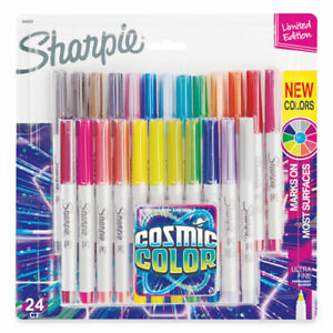 Cosmic Color Permanent Markers Extra fine Needle Tip Assorted Colors 24 pack