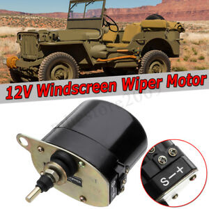 Universal Black Windshield Wiper 12v Motor For Willys Jeep 01287358