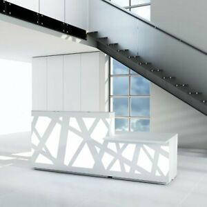 Zig zag 126 Reception Desk With Counter Top