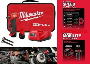 Milwaukee 2485 22 Brushless Cordless 1 4 Right Angle Die Grinder Kit New Usa