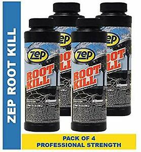 Zep Root Kill 2 Lb Zroot24 case Of 4 Drain And Septic Care With Copper Sulfate