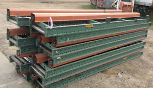 350 X 14 3 4 Wide Roach Powered Roller Conveyor Ybm 11351