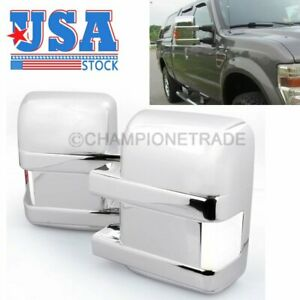 Us Chrome Full Mirror Cover Signal Light For Ford F 250 F 350 Super Duty 2008 16
