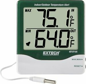 Extech 401014a Big Digit In outdoor Thermometer With Thermometer With Alarm