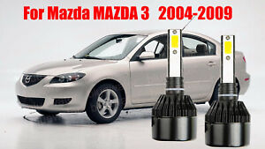 Led For Mazda Mazda3 2004 2009 Headlight Kit H7 6000k White Cree Bulbs Low Beam