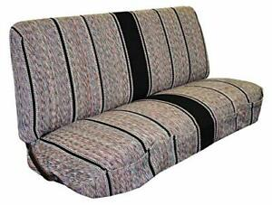 Saddle Blanket Truck Bench Seat Cover Fits Chevrolet Dodge Ford Trucks Black
