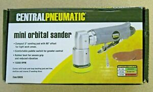 New Central Pneumatic 2 Professional Mini Orbital Air Sander 15000 Rpm