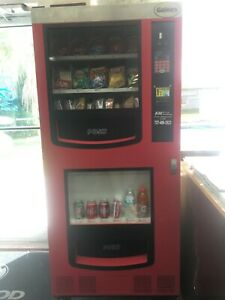 Used Red black Gaines Vm 750 Snack And Drink Vending Machine