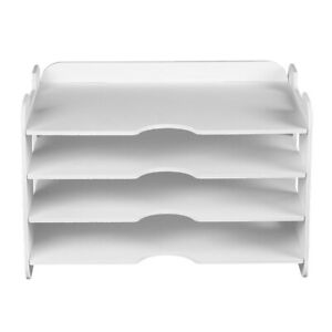 Diy Self assembly Files Organizer Case Paper Holder Supplies White Color Set