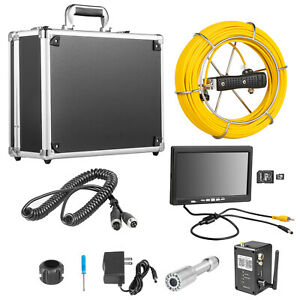 9 Lcd Pipe Inspection Pipeline Drain Sewer Waterproof Camera 50m Wifi 16g W dvr