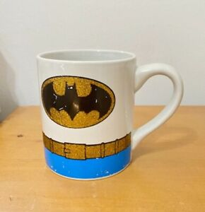 DC Comics Batman Coffee Mug Cup 14oz Glitter Belt - Used