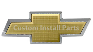 Gold Bowtie Front Grille Emblem Badge Replaces Oem 12335700 Fits Chevy Silverado