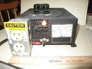 Variac W volt Meter Fan And Light In Metal Box Used For Amp Tube Radio Repair