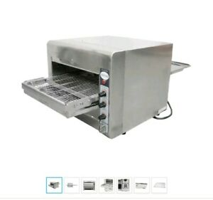 Omcan Ce tw 0356 Conveyor Commercial Countertop 14 Pizza And Baking Oven New