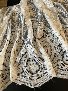 Antique Lace Brussels Princess Lace And Applique Lace Flounce