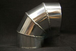 Spectre 9298 Fabricated Aluminum 2 5 64mm Od Cold Air Intake Tube 90 Degree