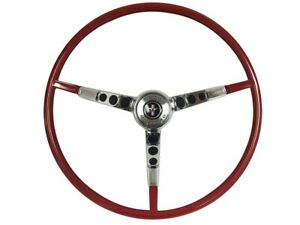 1966 Ford Mustang Steering Wheel Kit W Horn Ring Spring Red