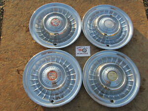 1958 1959 Cadillac Deville Series 62 15 Wheel Covers Hubcaps Set Of 4