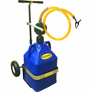 Flo fast Gas Container With Pump And Cart 15 gallon Blue For Kerosene 31015 b
