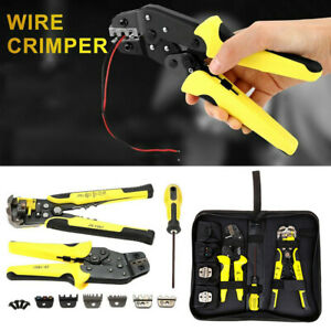 Ratcheting Wire Crimpers Crimping Pliers Stripper Cord End Terminals Tool 4 In 1