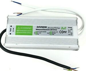 24v 60 Watt Waterproof Electronic Led Driver Constant Voltage Ip67 2 5a