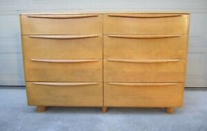 Heywood Wakefield Encore 8 Drawer Dresser Art Deco Birch Mid Century