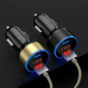 2ports 3 1a Usb Car Cigarette Charger Lighter Digital Led Voltmeter Accessory