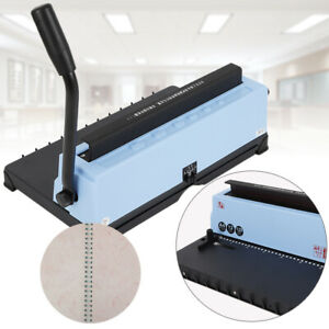 Calendar Spiral Coil Punching Binding Machine 34 Square Hole Solid Handle For A4
