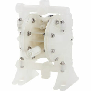 Roughneck Air operated Double Diaphragm Pump 1 2in Ports 14 5 Gpm Polypropylene