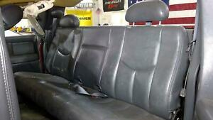 03 07 Chevy Silverado Extended Cab Leather Rear Seat dark Pewter 69i