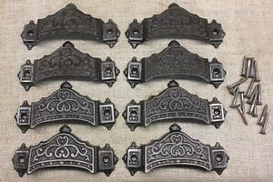 8 Old Bin Drawer Pulls Handles 4 5 8 1871 Patent Parker Whipple Well Made