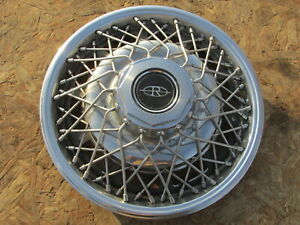 1977 85 Buick Riviera 15 Wire Wheel Cover Hubcap One 1