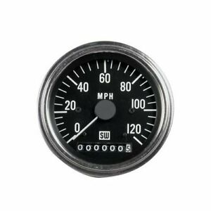 Stewart Warner Deluxe Series Speedometer 0 120 Mph 3 3 8 Dia Electrical 82896