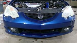 02 04 Acura Rsx Type s Front Bumper Assembly artic Blue Pearl Oem