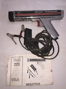 Vintage 1983 Sears Craftsman Inductive Timing Light Gun In Box Model 161 213400